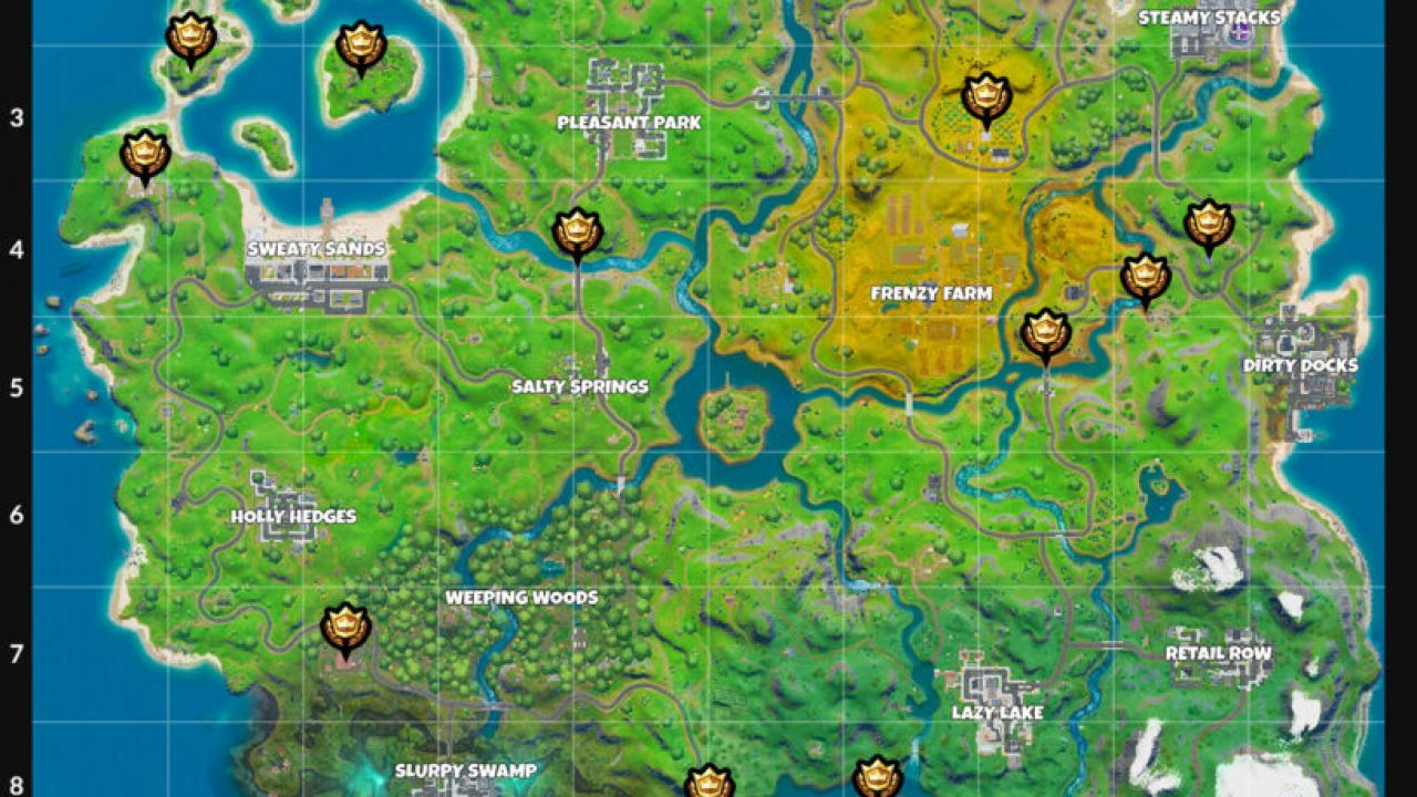 Fortnite Landmark Locations Discover Landmarks Challenge