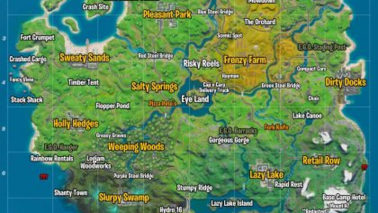 Fortnite Landmarks All Map Locations Visit Landmarks In