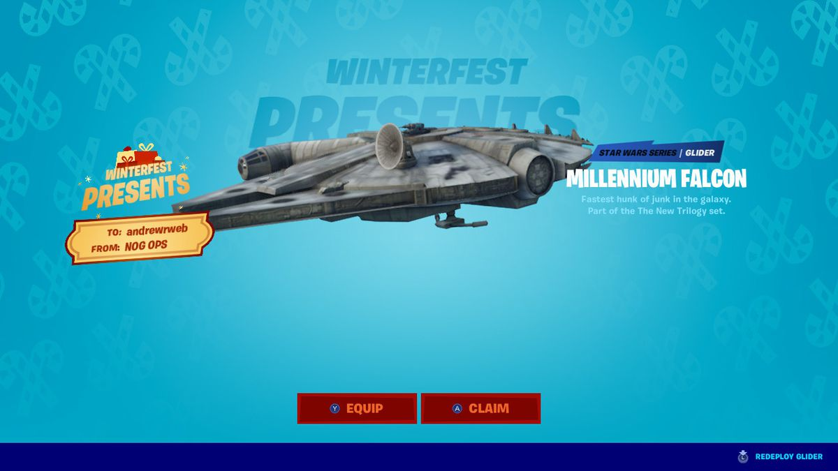Fortnite Winter Update 2019 Fortnite S Winter Event Kicks Off Today With Two Weeks Of In Game Presents