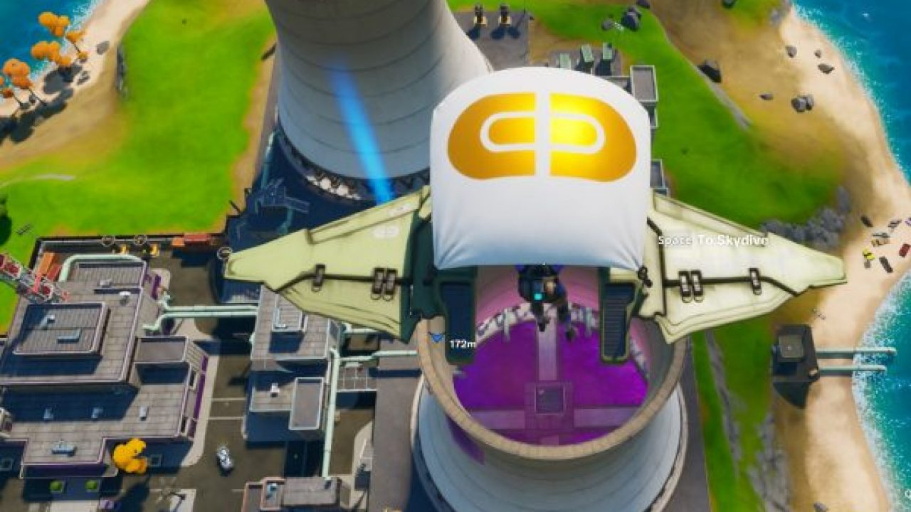 Fortnite Chapter 2 Skydive Through Rings In Steamy Stacks