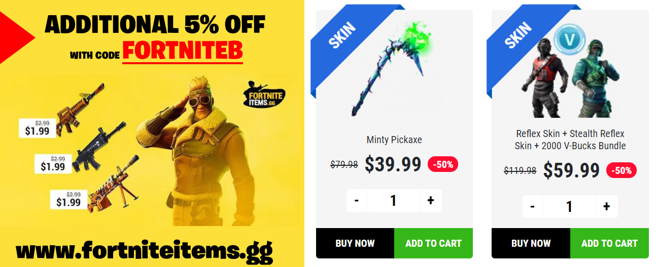Guide on how to buy the Minty Pickaxe, Reflex and Stealth Skins plus 2000 vbuck bundle.