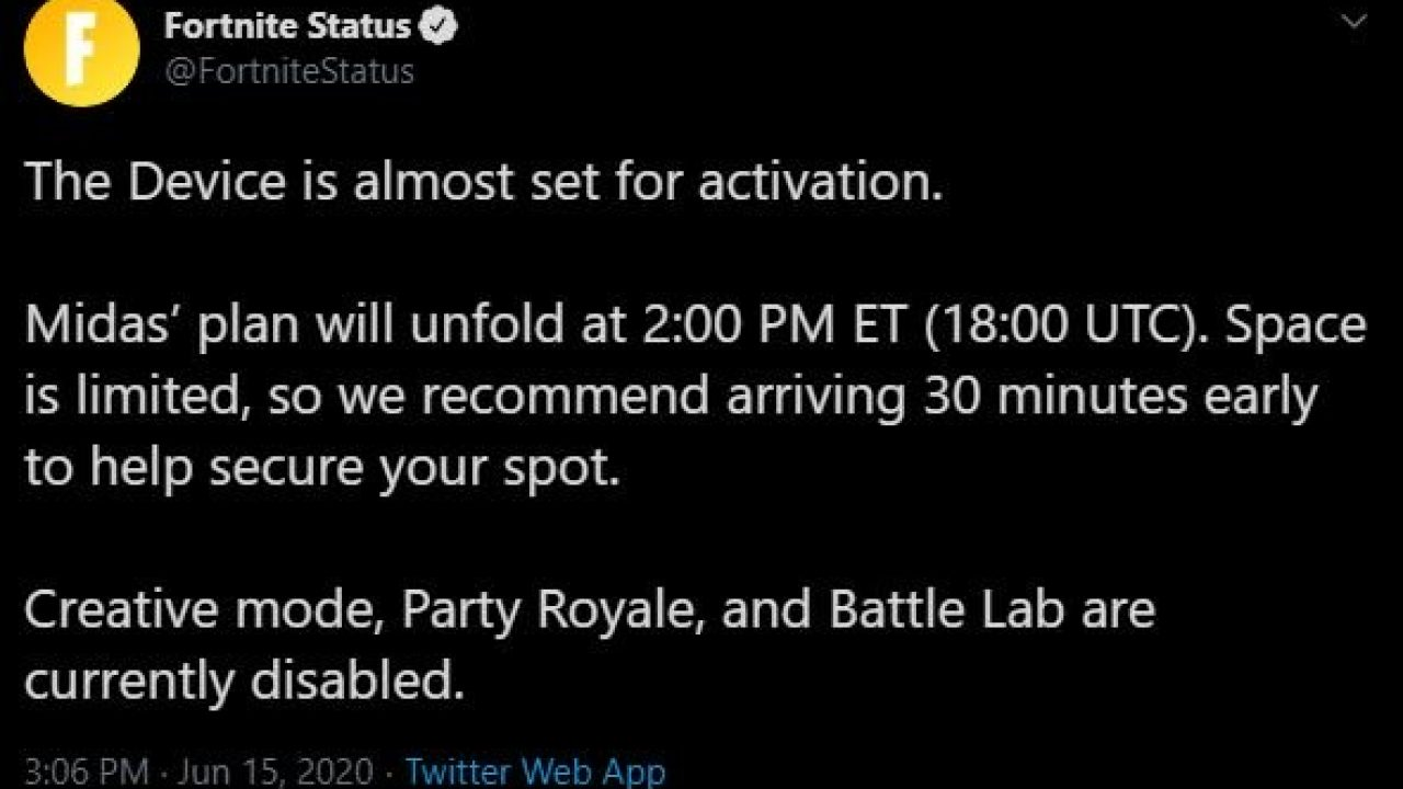 doomsday device fortnite live event