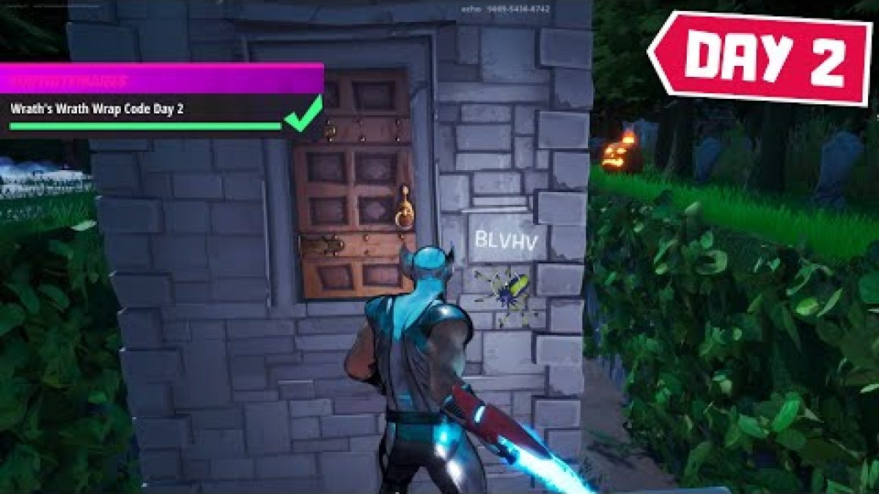 Haunted Mansion Fortnite Chapter 2 How To Find The Secret Code For Wrath S Wrath Wrap In Haunted House Deathrun Featured Island Day 2