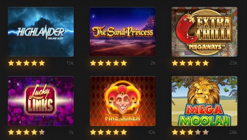 Web and mobile slot games