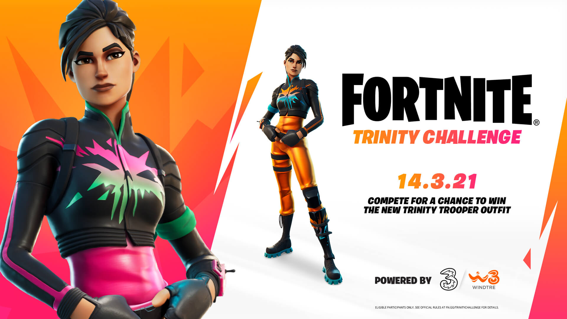 The Fortnite Trinity Challenge takes place March 14, presented by Three