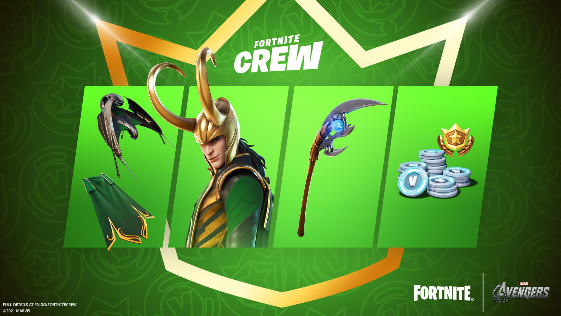 Fortnite reveal the July 2021 Crew Pack: Loki