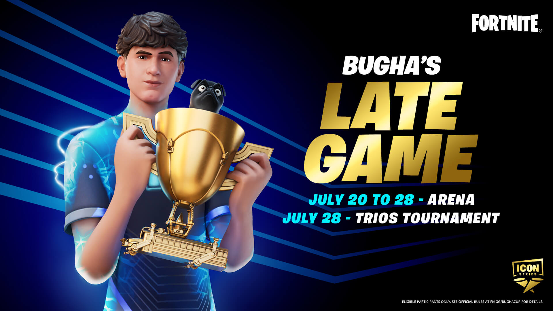 Bugha joins The Fortnite Icon Series