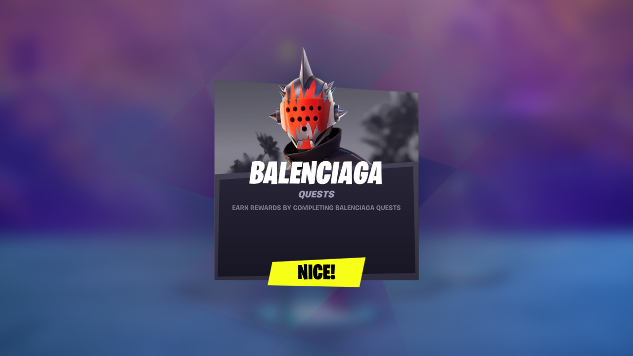 Fortnite: How to complete the Balenciaga Quests